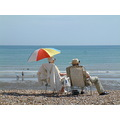 beach bexhill sun umbrella summer england