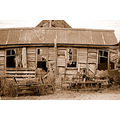 old shed sepia