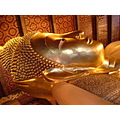 Wat Pho Temple Head area of Reclining Buddha