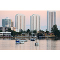 aventura florida condos houses buildings boats yachts lake