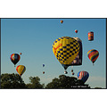 stlouis missouri us usa event balloon race sky blue clouds Forestpark 2007