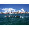 Rowing sculling Bermuda boat ocean coast guard sailing ship girls sport