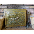 old antique firescreen screen