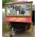 front of popcorn wagon