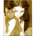 piercings piercing woman girl kitty kitten cat sepia