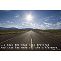 This photo was taken on the 'loneliest road', highway 50 across Nevada. I stood in the middle of ...