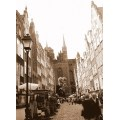 the street of the old town of Gdansk, Poland