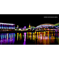 moscow river night koryagin name lights october city russia bridge nikon D700