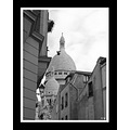 Clocher Montmartre Paris bw