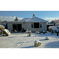 Cornwall UK Home Bungalow House Garden Snow