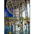 roundfriday sphere people globe autostadt kids glass floor blue