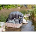 Sculpture Mol Leo Garden BEAR AND CUB AT THE WATER