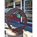 glenwood springs colorado gsfph art sculpture crystal metal walkway