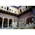 mural haveli courtyard mandawa rajasthan india