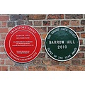 england barrowhill railways trains plaques