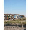 picnic beachhuts beach sand colourful