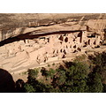 A village built by Indians into the wall of rocks Mesa Verde