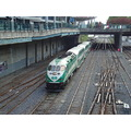 Taken later at 7:45pm.At Rogers Centre-at Front St.,GO Train coming in at Union Station-Toronto,O...