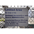 kennedy space center florida nasa security fence warning sign signage