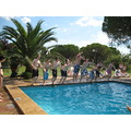 4. The pool was a great way for the students to cool off in the day....