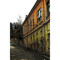 wreck old houses historic city center building miercurea ciuc romania