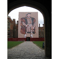 3. They are renovating the Clock Court so this huge Henry was towering over the entrance!