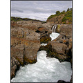 waterfall nature Iceland water rock formations river white