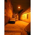 sibiu winter medieval architecture city cityscape street