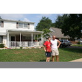 Horia and Marius in front of Horia's host family home in Levittown on 7/30.