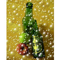 Beer bottles apples red green health bubbles yum