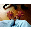 slipper slippers flower foot feet