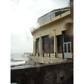2010 portugal madeira saovicente rain sky clouds grey sea shore ocean building