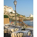 Enjoying the dinner in Sperlonga Italy
