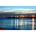 Tilbury at night from Gravesend