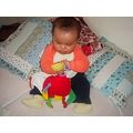 playing toys bed baby girlie