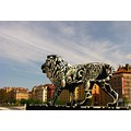 Lyon France lion city bridge statue