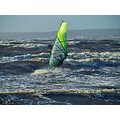 Windsurfing Skalderviken Angelholm Skane Sweden 2011 April Storm