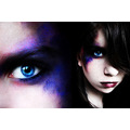 portrait girl purple pink blue eye eyes makeup
