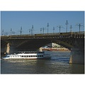 margaret bridge danube river boat sky