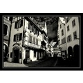 bw Colmar France old town
