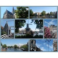 Holland Haarlem Spaarne architecture nature people