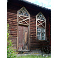 door window old house resele angermanland sweden