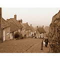 Gold Hill in Shaftsbury, location of the old Hovis advert