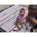 Arianna at the Beach for the first time