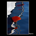 reflection sea boat baloon colour abstract lesvos greece COLORFRIDAY