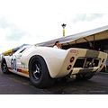 Ford GT40 Le Mans Rear May 2014 Skane Ring Knustorp White Red