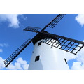 windmill flower sky blue wind sails