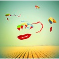 surreal abstract art lips kite dream landscape sky colours fantasy keitology