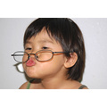 girl children glasses pretend cute relax leisure playing