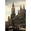 marienplatz munich germany december rathaus architecture muenchen spire tower